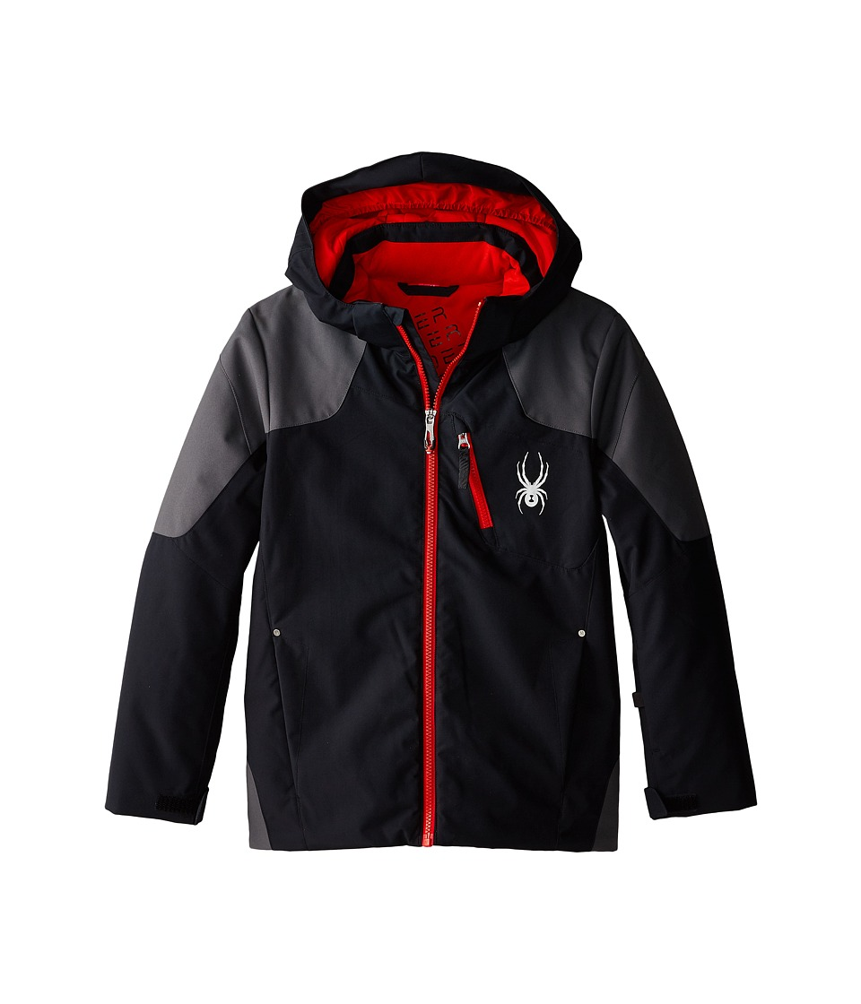 Spyder Kids - Squaw Jacket (Big Kids) (Black/Polar/Volcano) Boy's Coat