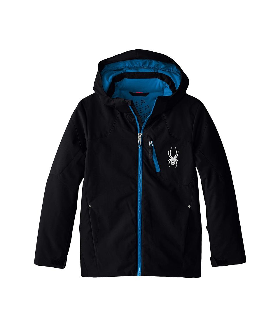 Spyder Kids - Squaw Jacket (Big Kids) (Black/Black/Electric Blue) Boy's Coat