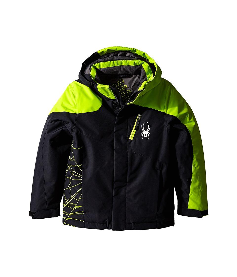 Spyder Kids - Guard Jacket (Big Kids) (Black/Theory Green) Boy's Coat