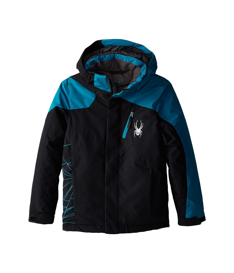 Spyder Kids - Guard Jacket (Big Kids) (Black/Concept Blue) Boy's Coat