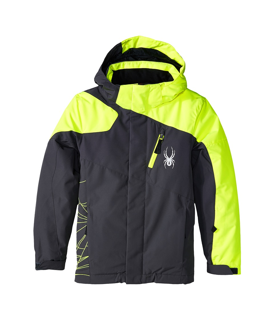 Spyder Kids - Guard Jacket (Big Kids) (Polar/Bryte Yellow) Boy's Coat