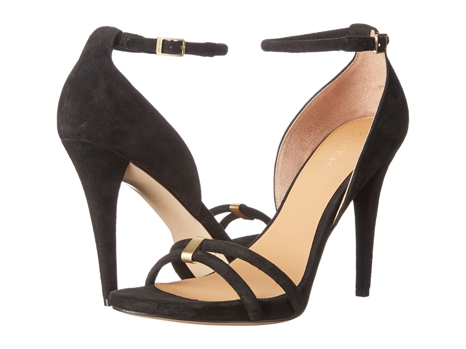 Calvin Klein - Nathali (Black Kid Suede) High Heels