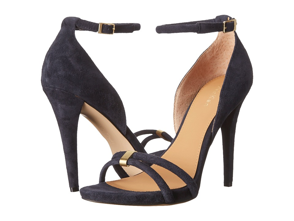 Calvin Klein - Nathali (Deep Navy Kid Suede) High Heels