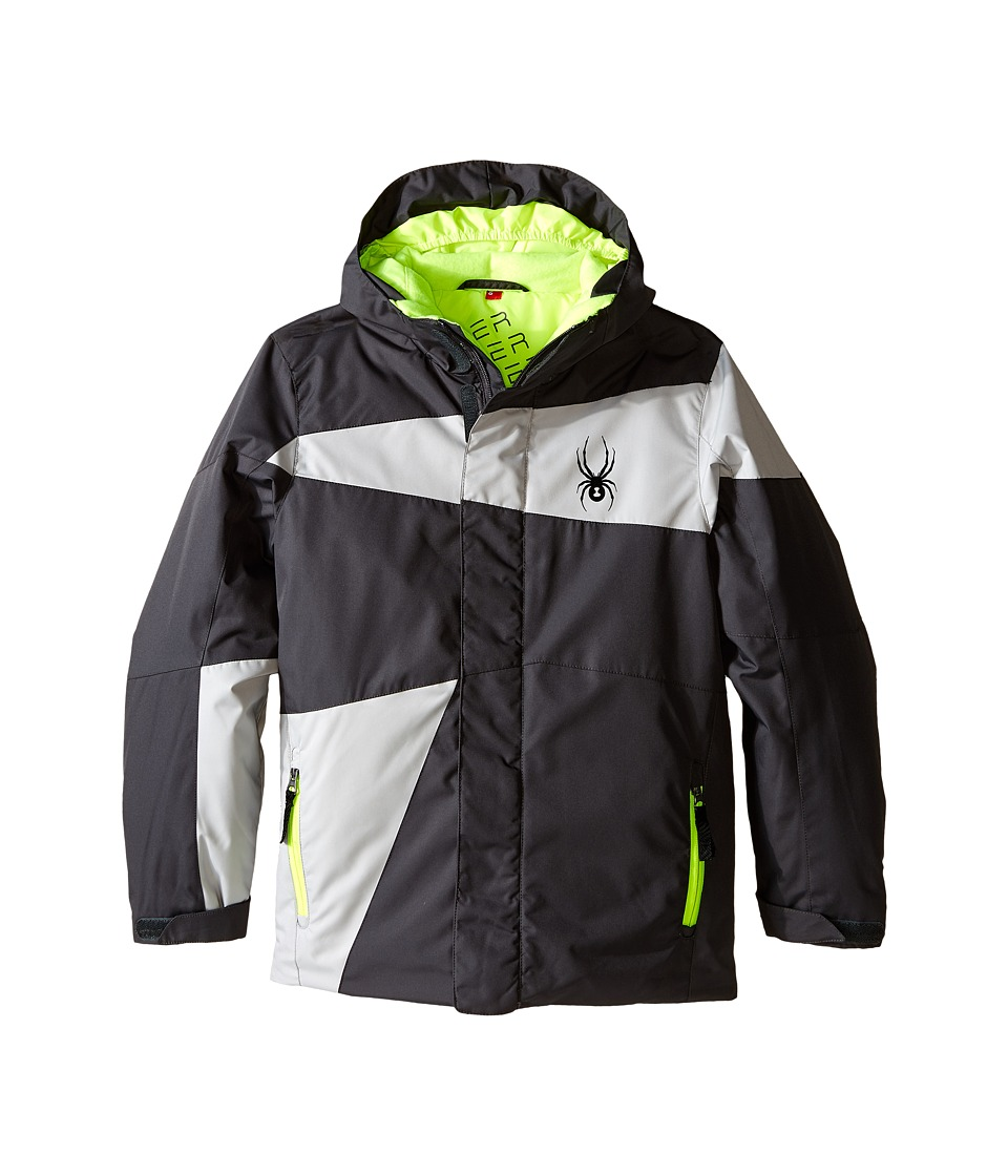 Spyder Kids - Snap Jacket (Big Kids) (Polar/Cirrus/Bryte Yellow) Boy's Coat