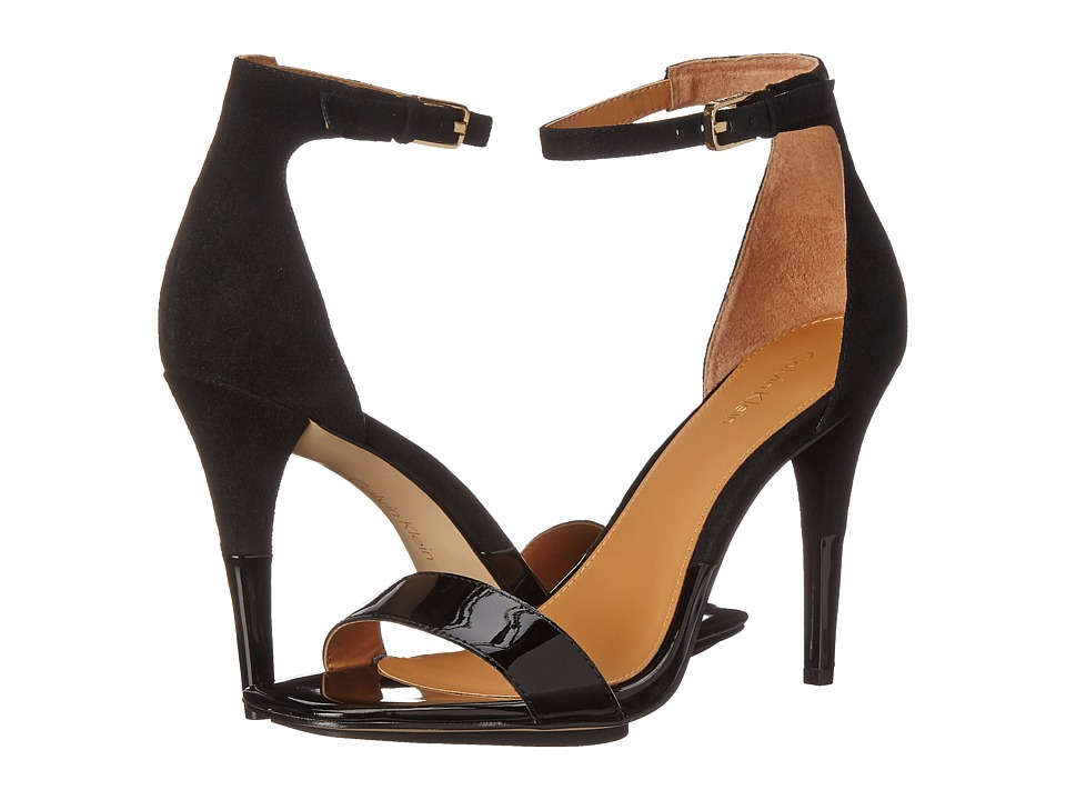 Calvin Klein - Shanti (Black Patent/Kid Suede) High Heels