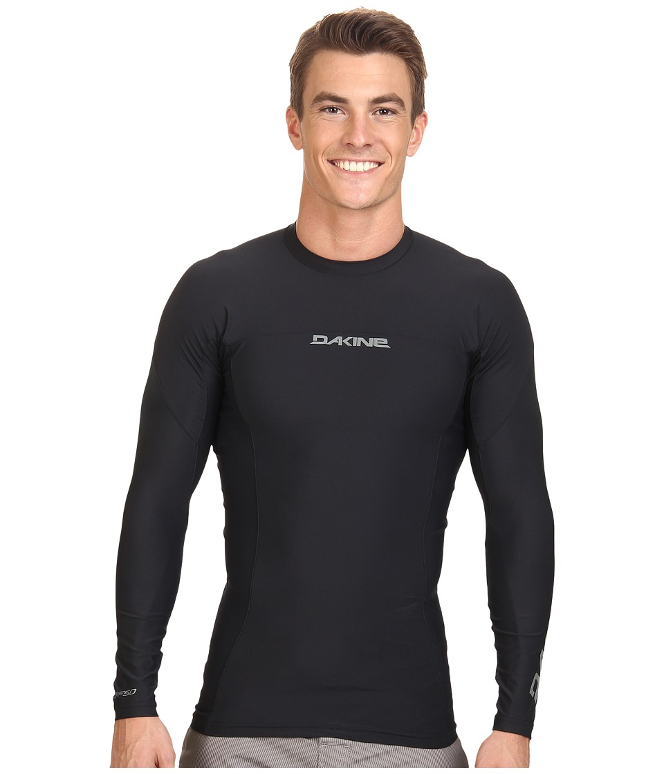 Dakine - Covert Long Sleeve (Snug) (Black) Men's Swimwear