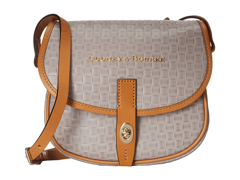 Dooney & Bourke - Claremont Woven Field Bag (Oyster w/ Butterscotch Trim) Bags