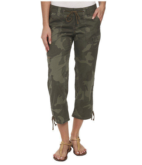 UNIONBAY - Camelia Ruched Camo Crop (Greek Olive) Women