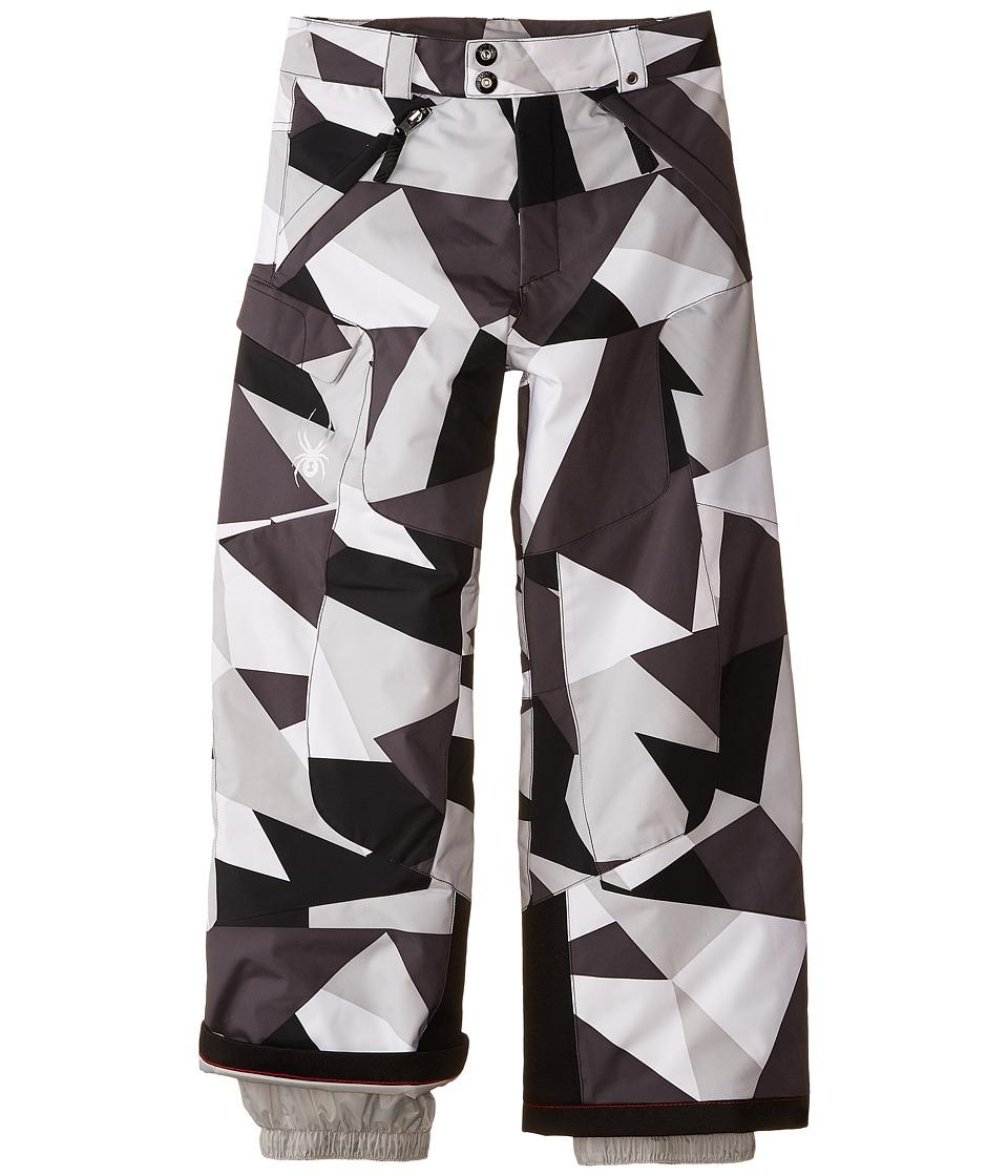 Spyder Kids - Action Pants (Big Kids) (Black Faceted Print) Boy's Outerwear
