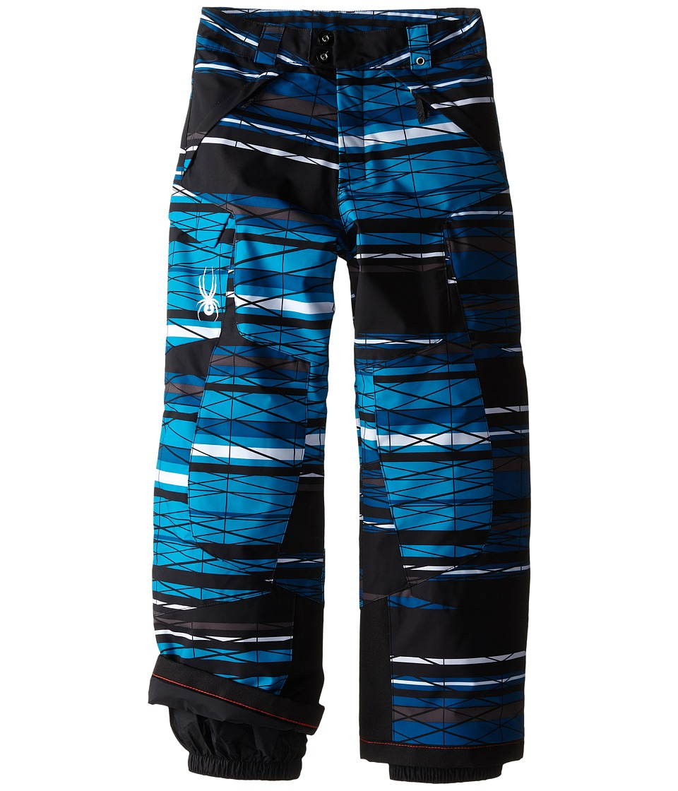 Spyder Kids - Action Pants (Big Kids) (Electric Blue Scaffolding) Boy's Outerwear