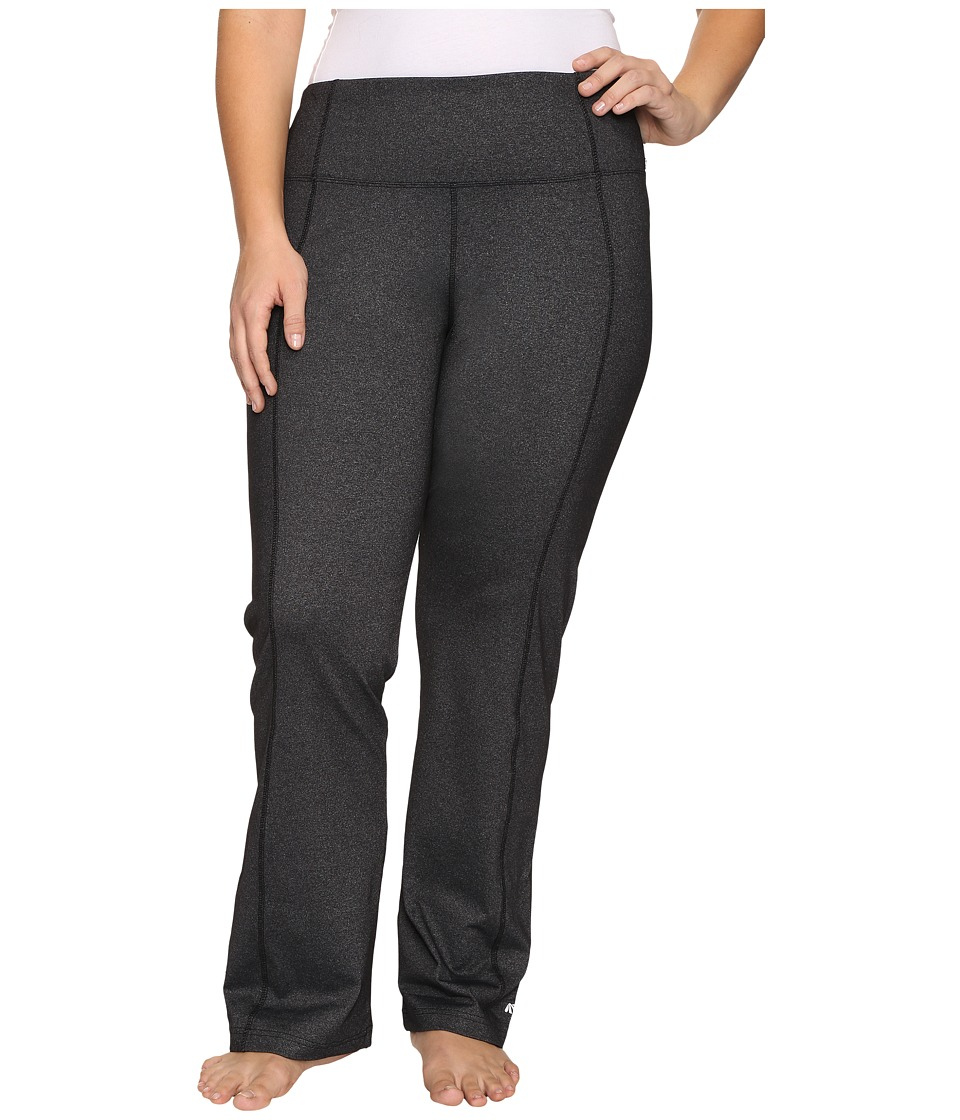 Marika Curves - Plus Size High Rise Tummy Control Slim Boot Pants (Heather Black) Women's Workout
