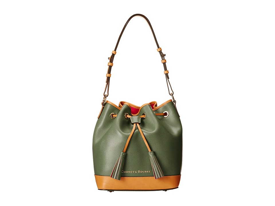 Dooney & Bourke - Claremont Drawstring (Sage w/ Butterscotch Trim) Shoulder Handbags