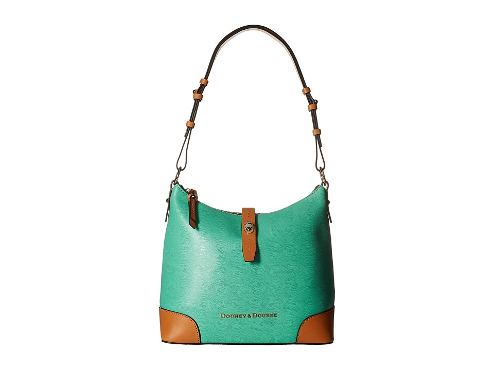 Dooney & Bourke - Claremont Hobo (Seafoam w/ Butterscotch Trim) Hobo Handbags