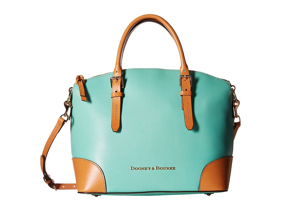 Dooney & Bourke - Claremont Domed Satchel (Seafoam w/ Butterscotch Trim) Satchel Handbags