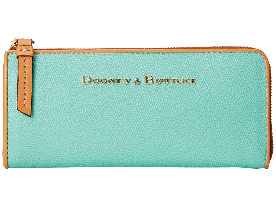 Dooney & Bourke - Claremont Zip Clutch (Seafoam w/ Butterscotch Trim) Clutch Handbags