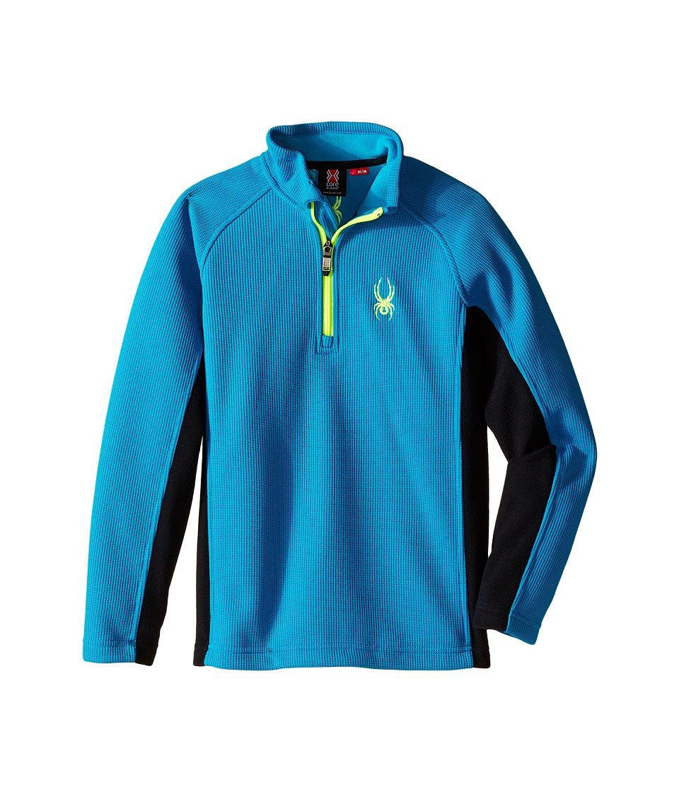 Spyder Kids - Outbound Midweight Core Sweater (Big Kids) (Electric Blue/Bryte Yellow) Boy's Jacket