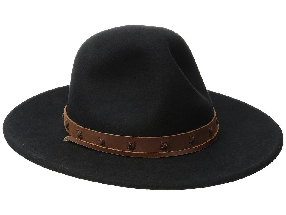 Brixton - Clay Hat (Black/Tan) Traditional Hats
