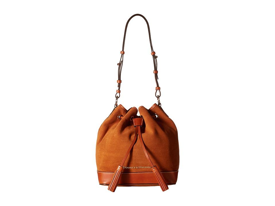 Dooney & Bourke - Suede Drawstring (Honey w/ Tan Trim) Drawstring Handbags