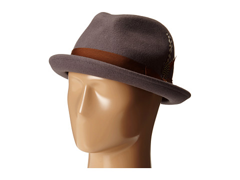 Brixton - Gain Fedora (Grey/Rust) Fedora Hats