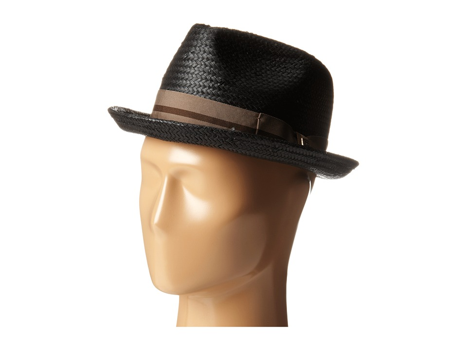 Brixton - Castor Fedora (Black/Taupe) Traditional Hats