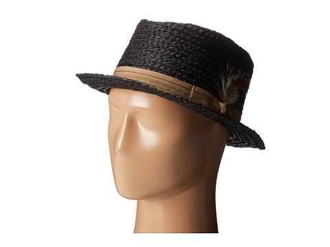 Brixton - Delta Fedora (Black/Gold) Fedora Hats