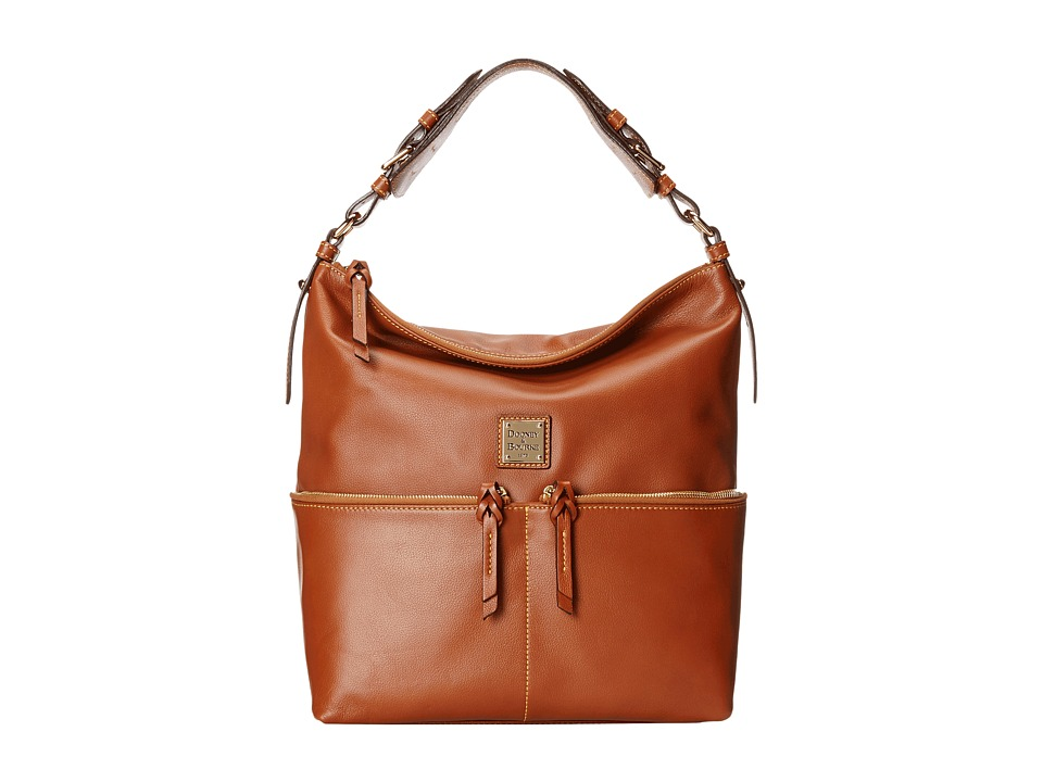 Dooney & Bourke - Seville Med Zipper Pocket Sac (Natural w/ Self Trim) Satchel Handbags