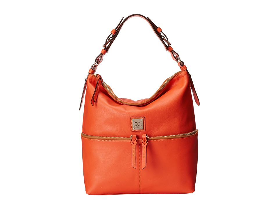 Dooney & Bourke - Seville Med Zipper Pocket Sac (Tangerine w/ Self Trim) Satchel Handbags