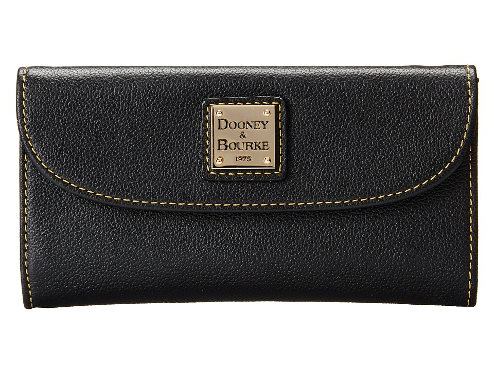 Dooney & Bourke - Seville Continental Clutch (Black w/ Self Trim) Clutch Handbags