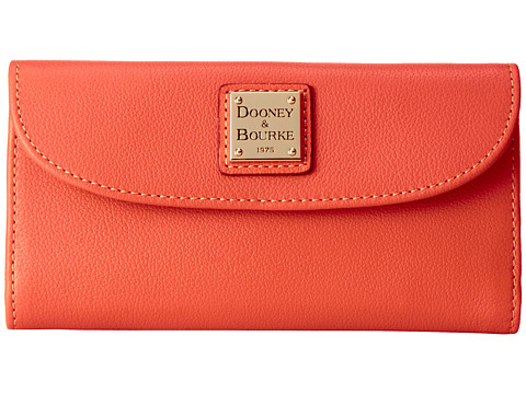 Dooney & Bourke - Seville Continental Clutch (Tangerine w/ Self Trim) Clutch Handbags