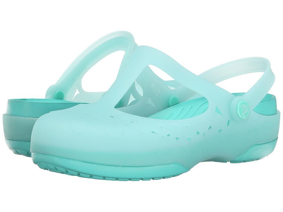 Crocs - Carlie MJ Flower (Sea Foam/Island Green) Women's Clog/Mule Shoes