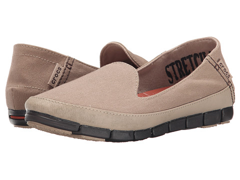 Crocs - Stretch Sole Skimmer (Tumbleweed/Espresso) Women's Shoes