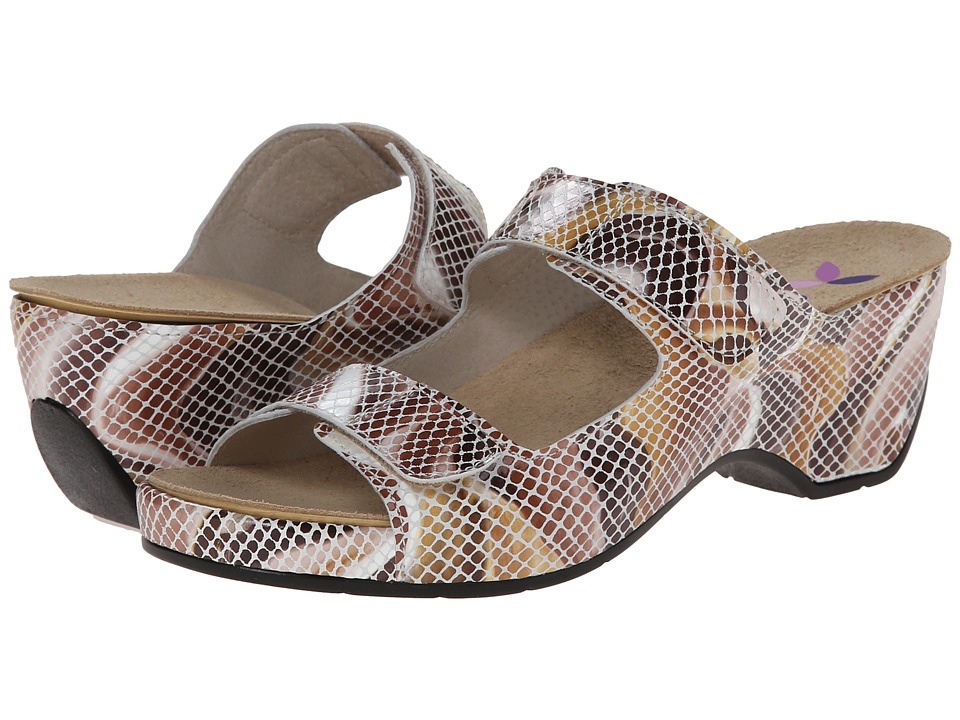 Helle Comfort - Amadi (Toast Multi Snake) Women's 1-2 inch heel Shoes