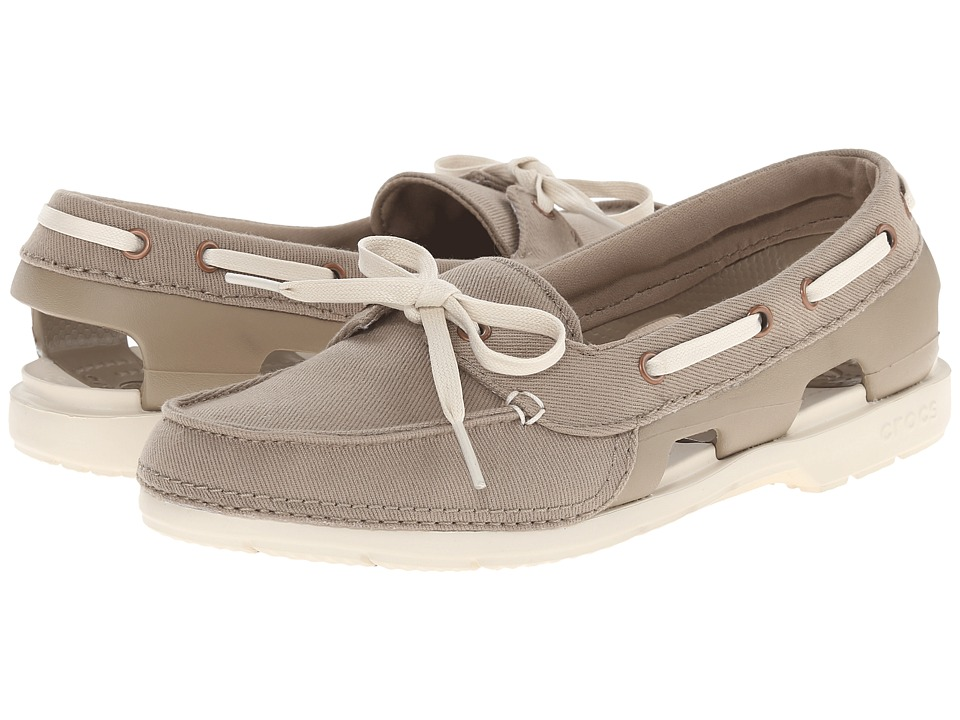 Crocs - Beach Line Hybrid Boat Shoe (Khaki/Stucco) Women's Shoes