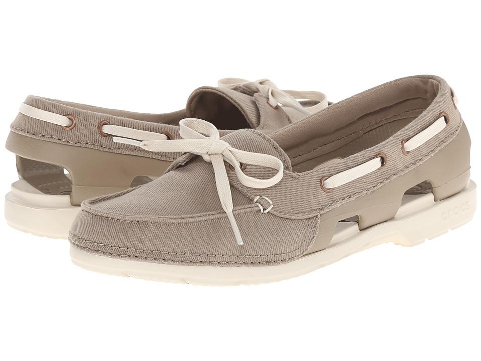 Crocs - Beach Line Hybrid Boat Shoe (Khaki/Stucco) Women's Shoes