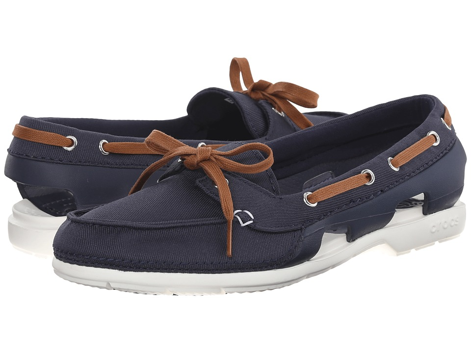 Crocs - Beach Line Hybrid Boat Shoe (Navy/White) Women's Shoes