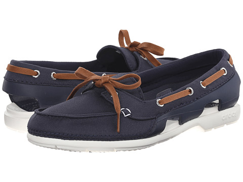 Crocs - Beach Line Hybrid Boat Shoe (Navy/White) Women