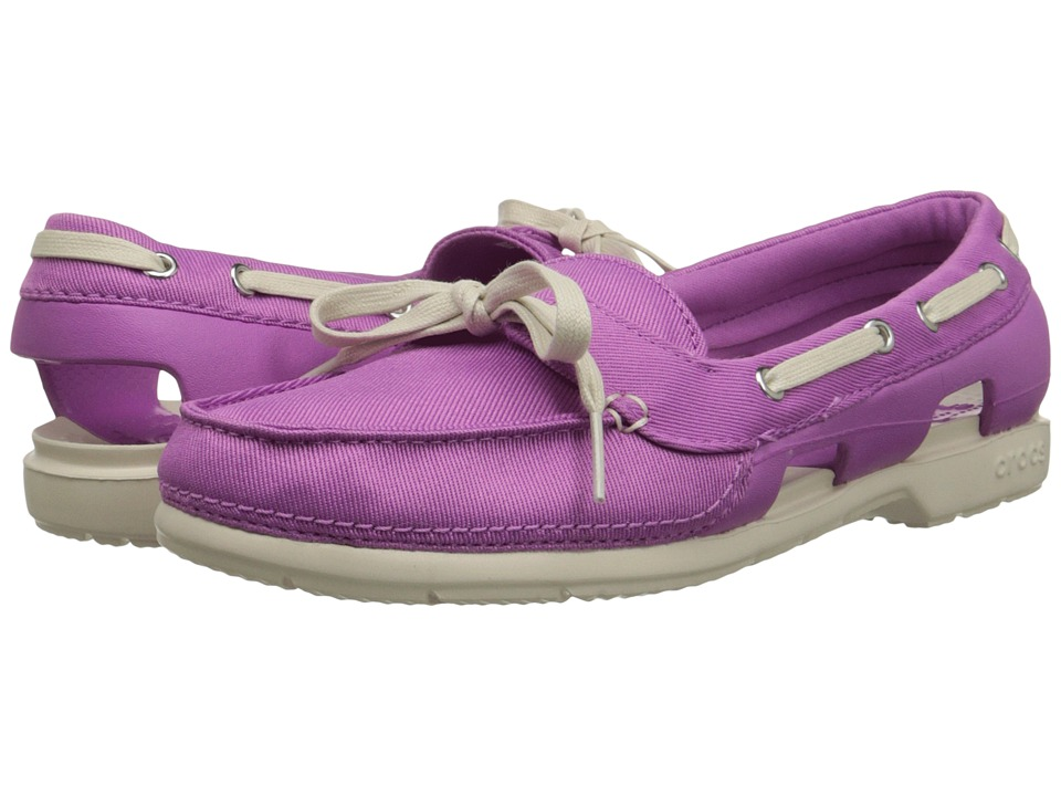 Crocs Kids - Beach Line Hybrid Boat Shoe (Wild Orchard/Stucco) Girls Shoes