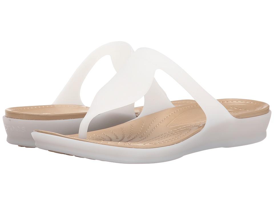Crocs - Rio Flip (White/Gold) Women