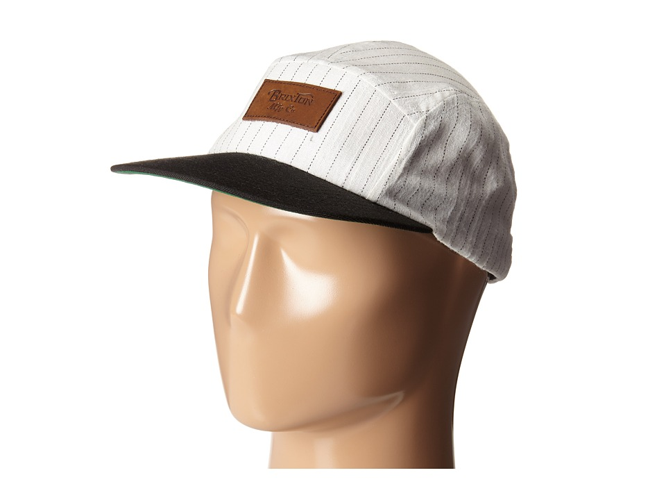 Brixton - Cavern Five-Panel Cap (Cream/Black) Fedora Hats