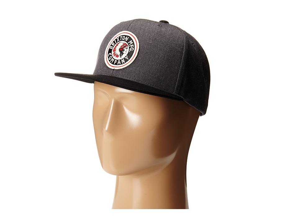 Brixton - Rival Snapback Cap (Charcoal/Black) Baseball Caps