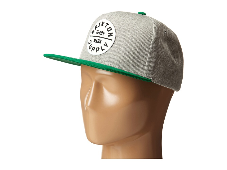 Brixton - Oath III Snapback Cap (Kelly Green/Light Heather Grey) Baseball Caps