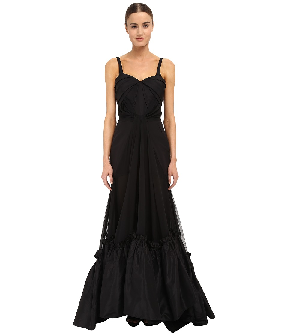 Zac Posen - 01-8028-46 (Jet Black) Women's Dress