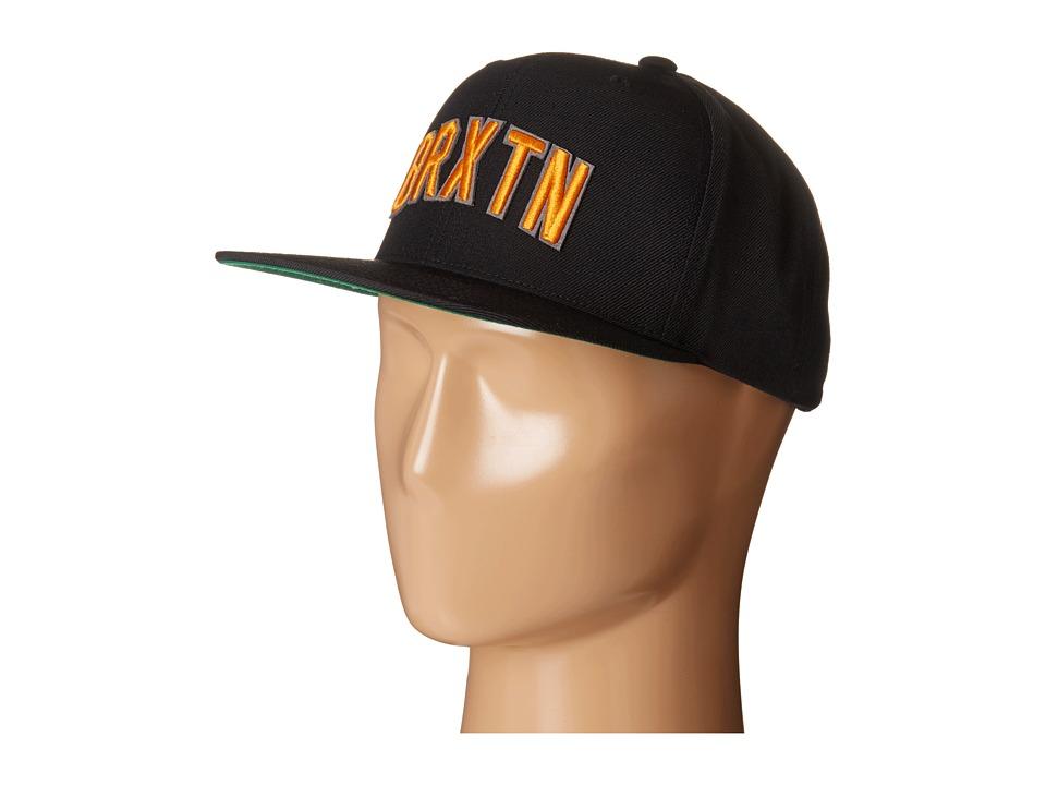 Brixton - Hamilton Snapback Cap (Black) Baseball Caps