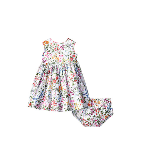 Oscar de la Renta Childrenswear - English Garden Cotton Dress (Infant) (Optic White) Girl