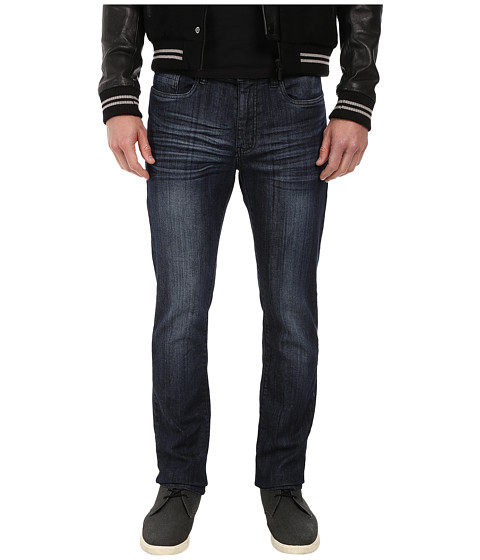 Kenneth Cole Sportswear - Denim with Rib Cuff in Dark Wash (Dark Wash) Men