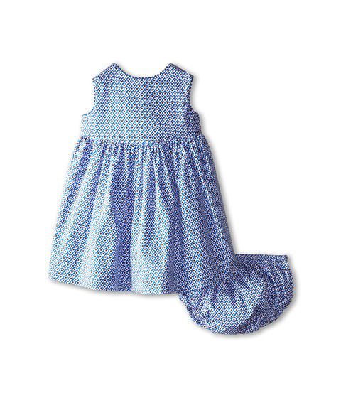 Oscar de la Renta Childrenswear - Foulard Flower Cotton Dress (Infant) (Cadet/Clementine) Girl