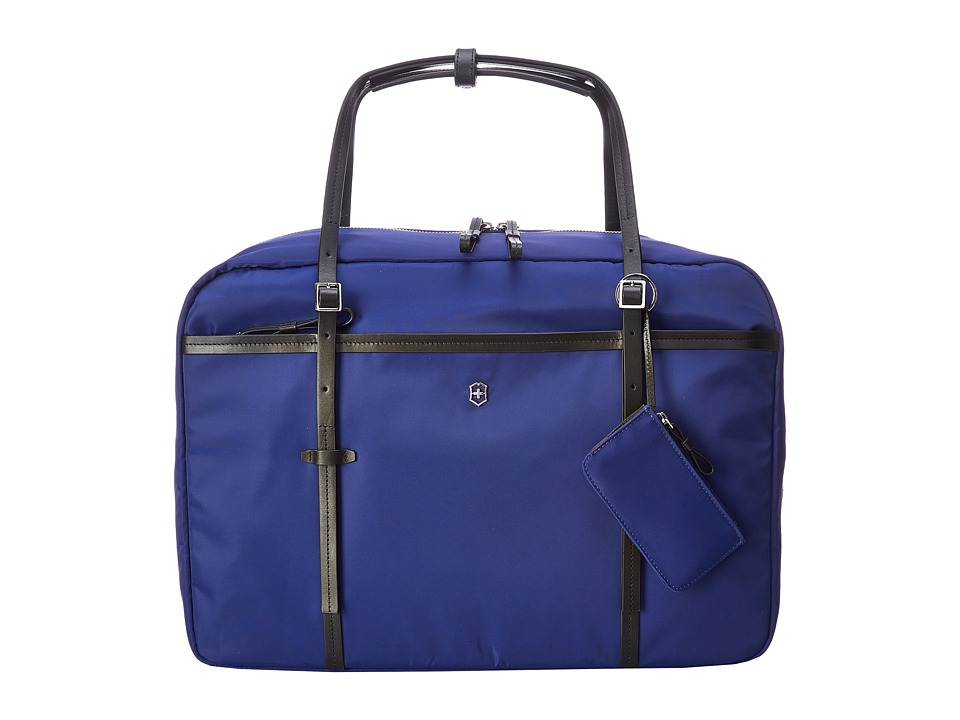 Victorinox - Victoria - Divine Laptop Boarding Tote with Tablet/eReader Pocket (Blue) Tote Handbags