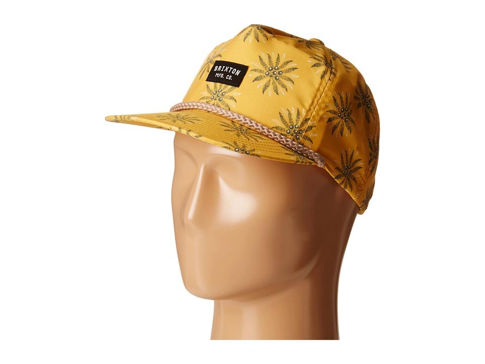 Brixton - Henshaw Snapback Cap (Gold) Caps