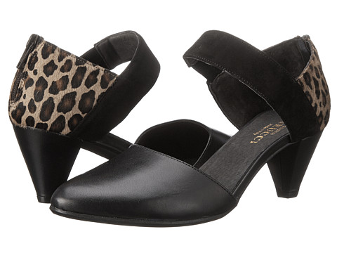 Sesto Meucci - Breanne (Black Calf/Camel Leo Hair/Black Suede Combo) Women's 1-2 inch heel Shoes