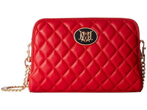 LOVE Moschino - Quilted Multi-Pocket Crossbody (Red) Cross Body Handbags